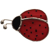 Stained Glass Ladybug Pin