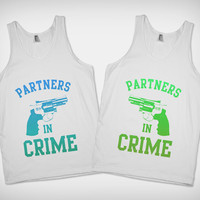 Partners in Crime (Alternate Colors) also available in Purple, Red & Black- BFF Shirts on Skreened
