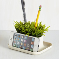 Rustic Lawn Your Marks Desk Organizer by Kikkerland from ModCloth