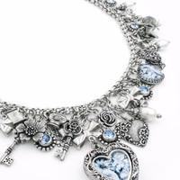 China Plate Charm Necklace