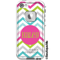 Sassy Chevron Monogrammed LifeProof Fre iPhone 5 by BoutiqueMe