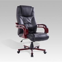 HomCom Executive Desk Chair with Adjustable Arms - Black
