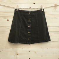 Front Button Up Skirt