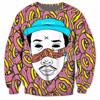 Odd Future OF Donut All Over Print Earl Sweatshirt Sweatshirt