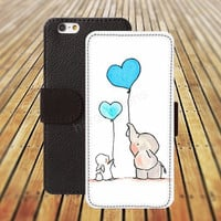 iphone 5 5s case dream elephant balloon heart iphone 4/ 4s iPhone 6 6 Plus iphone 5C Wallet Case,iPhone 5 Case,Cover,Cases colorful pattern L142