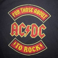 """New! ACDC """"For Those About To Rock""""  Classic Rock Licensed Juniors T-Shirt"""