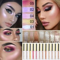 2018 Brand New Liquid Eye Shadow Shimmer Glitter Nude Metals Glow Eyeshadow Palette Waterproof Lasting Highlighter Beauty Makeup