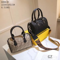 Fendi Women Leather Shoulder Bag Satchel Tote Handbag Shopping Bag Leather Tote Handbag