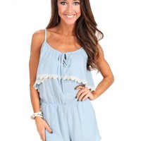 French Blue Kisses Romper | Monday Dress Boutique