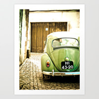 Mrs Olive Green Art Print by Hello Twiggs