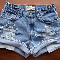 Size 2 Levi's High Waisted Jean Shorts