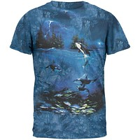 Stormy Night Orca Tie Dye T-Shirt