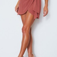 Take You Higher Mini Skirt Plum