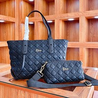 Dior's new picture-mother bag fashion classic two-piece one-shoulder handbag