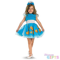 Toddler Girl's Costume: Frilly Cookie Monster-2T