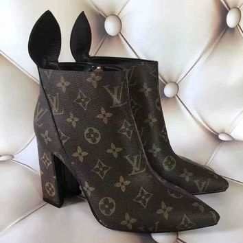 LV Louis Vuitton Women Heels Shoes Boots-9