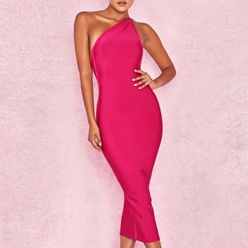 Valeria-Bodycon Bandage Midi Dress