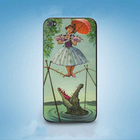 Haunted Mansion Stretching Painting girl customized for iphone 4/4s/5/5s/5c ,samsung galaxy s3/s4/s5 and ipod 4/5 cases