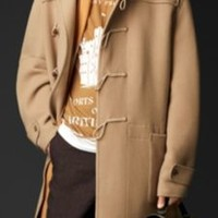 Double Cashmere Wool Duffle Coat