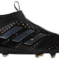 adidas Men's ACE 17+ PURECONTROL FG Soccer Cleats (Black)