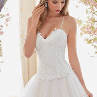 Voyage by Mori Lee 6840 Lace Bodice Wedding Dress – Off White by Bridal Expressions