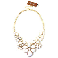 Stylish Faux Stone Bib Adjustable Women Necklace