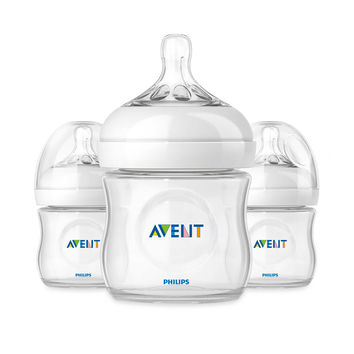 Philips Avent Natural 3-Pack 4-Ounce Bottles