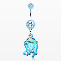 zzz-Jelly Fish Attack Belly Button Ring
