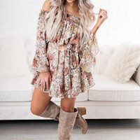 When You See Me Floral Dress (Beige)