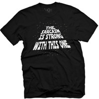 """Men's """"The Sarcasm Is Strong"""" Vintage Tee by Glitz Apparel (Black)"""
