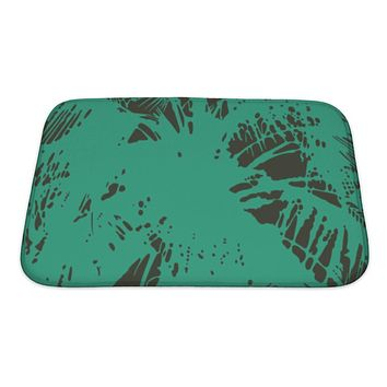 Bath Mat, Pattern From The Leaves Of Tropical Trees And Palms