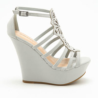 GREY CUT OUT WEDGES