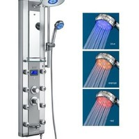 AKDY Aluminum Shower Panel AzV5333d Rain Style System with 3 Colors LED:Amazon:Home & Kitchen