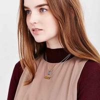 Rectangle Pair Layering Necklace Set