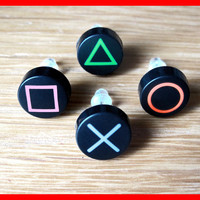 Playstation PS2 PS3 PS4 Button Stud Earrings (Pair)