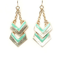 With Love From CA Double Chevron Dangle Earrings at PacSun.com