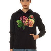 Obey Hoody Bed Of Roses in Navy Blue