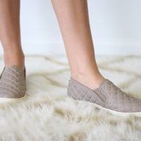 Steve Madden Taupe Quilted Shoes
