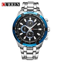 Silver Blue Watch Men Quartz Top Brand Analog Military Male Watches Men Sports Army Watch Waterproof