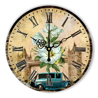 Brand Mediterranean style living room wall decoration watch with 12888 absolutely silent clock mechanism beautiful home decor