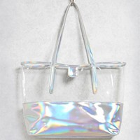 Iridescent Clear Tote Bag