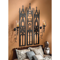 Gothic Cathedral Tryptych Wall Sculpture