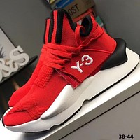 ADIDAS Y-3 2018 summer mesh breathable platform sports shoes F-CQ-YDX Red