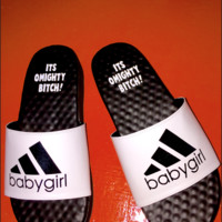 SWEET LORD O'MIGHTY! BABYGIRL SLIDES IN WHITE