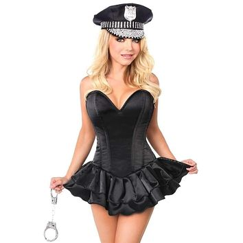 Daisy Top Drawer Handcuff Hottie Corset Costume