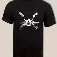 Anime T-Shirt cosplay Roronoa Zoro Unique One Piece logo t shirt, Swordsman, great anime tee AT_57_4