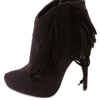 High Heel Fringe Booties by Charlotte Russe