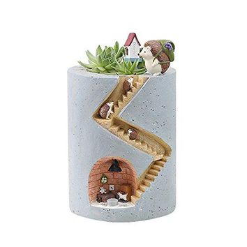 Segreto Creative Plants Flower Pots Brush Pots For Succulent Plants Pot Decorated Desk, Garden, Living Room With Sweet Hedgehog