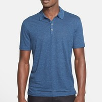 Men's John Varvatos Collection Stripe Linen Polo ,
