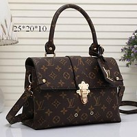 Lv Louis Vuitton Women Shopping Bag Leather Satchel Shoulder Bag Crossbody-1